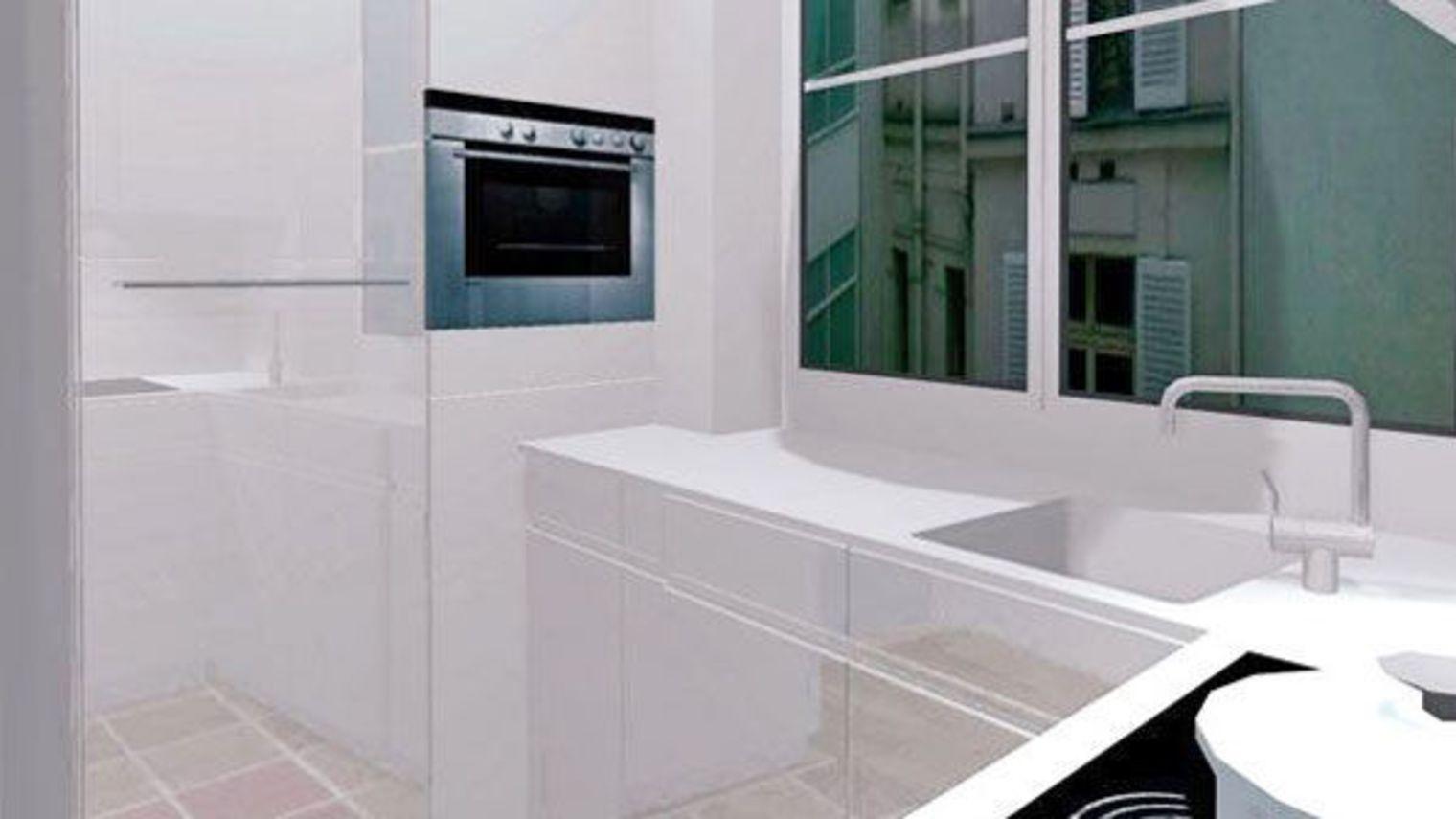 Cuisine 4m2 ouverte top cuisine for Salle de bain 4m2 rectangulaire
