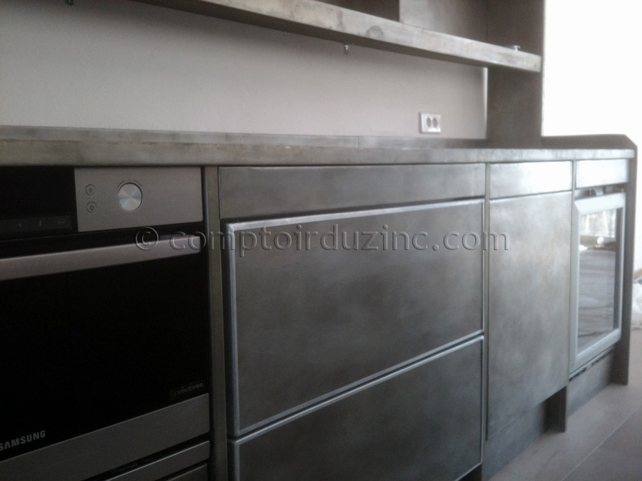 Cuisine zinc top cuisine for Cuisine 8m2 prix