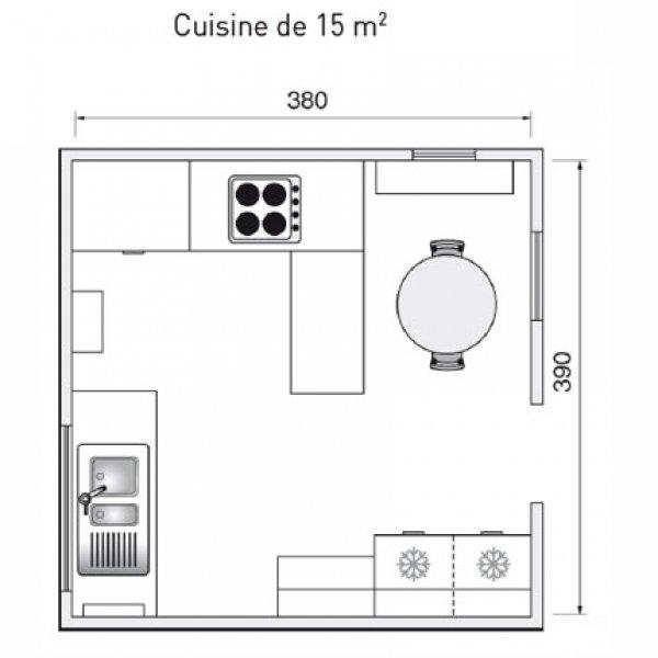 photo cuisine 15m2