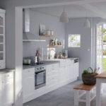 illustration cuisine blanche et grise