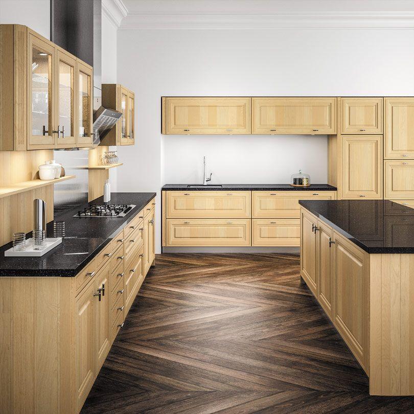 Cuisine bois top cuisine for Plan de travail cuisine bois clair