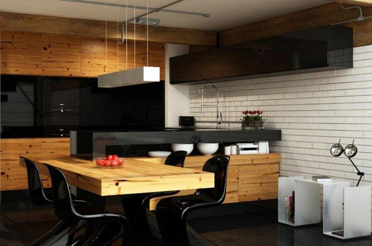 superbe cuisine bois et noir