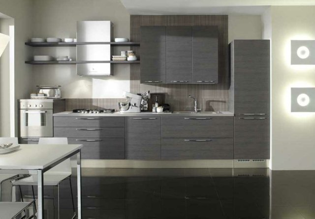 Cuisine grise top cuisine - Idee deco cuisine grise ...