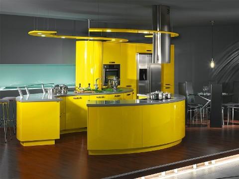 exemple cuisine jaune
