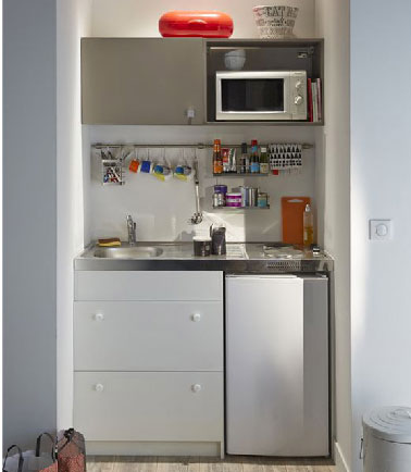 illustration cuisine kitchenette