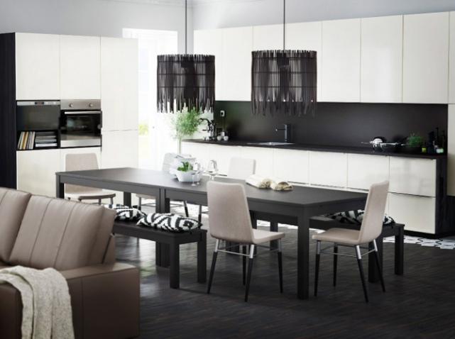 modèle cuisine noir et blanc