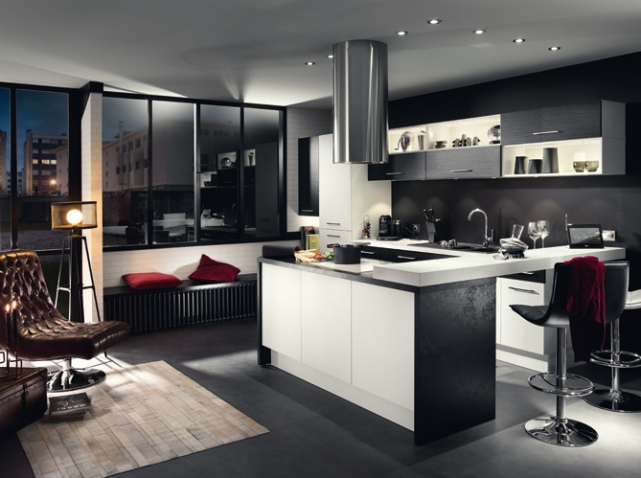 cuisine ouverte sur salon image cuisine ouverte sur salon top cuisine. Black Bedroom Furniture Sets. Home Design Ideas
