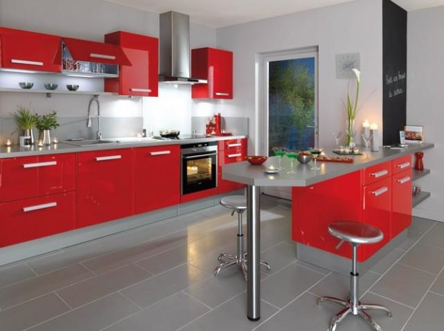 Cuisine rouge top cuisine for Cuisine americaine rouge