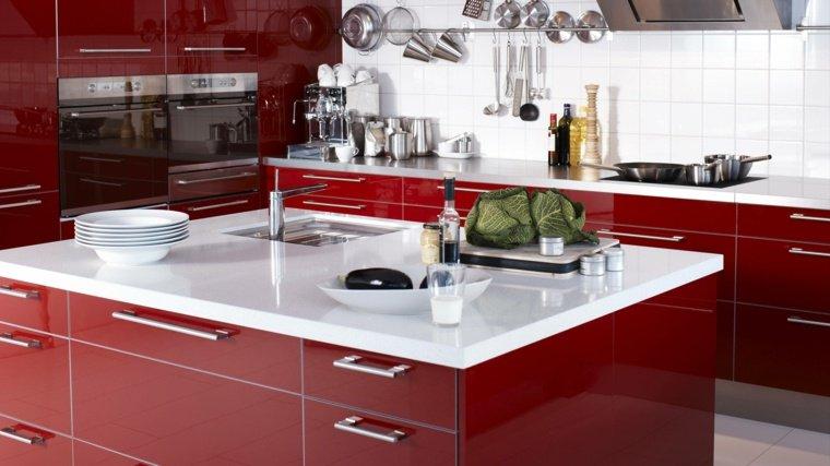 Cuisine rouge top cuisine for Cuisine rouge et blanc photos