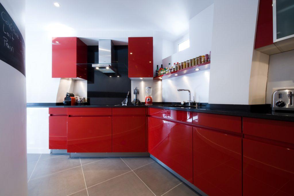photo cuisine rouge