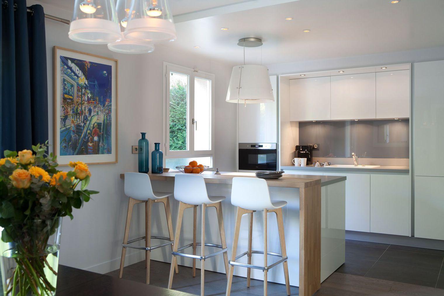 Cuisine semi ouverte top cuisine - Decoration cuisine americaine salon ...