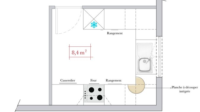 Plan amenagement cuisine 10m2 photos de conception de for Plan amenagement cuisine 10m2