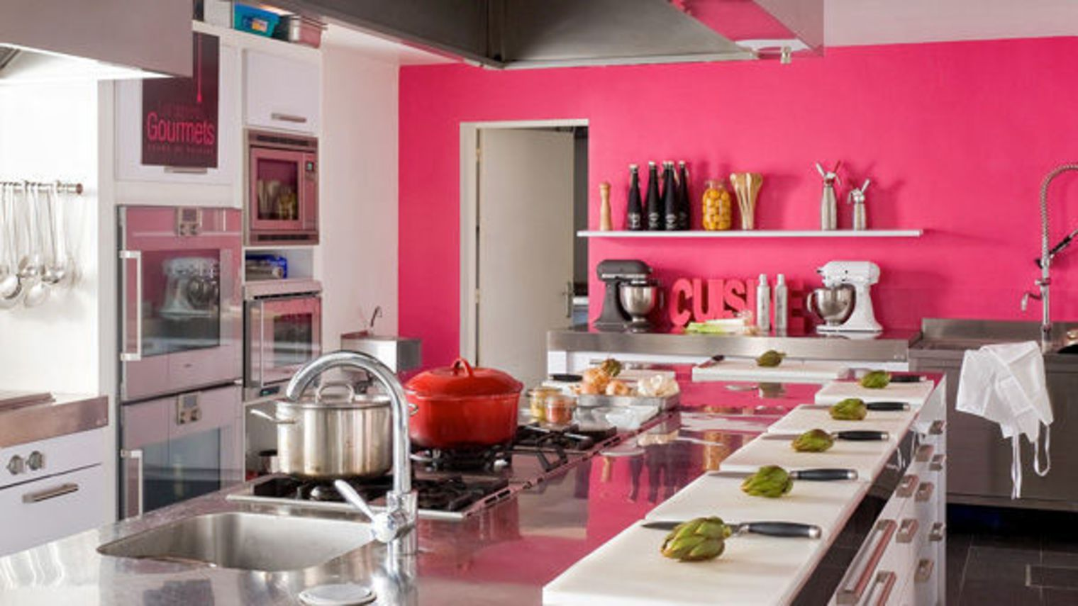 Cuisine rose top cuisine for Decoration cuisine