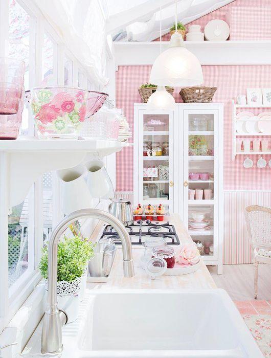 idée cuisine rose