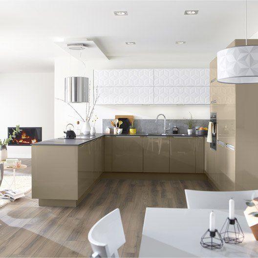 cuisine taupe top cuisine. Black Bedroom Furniture Sets. Home Design Ideas