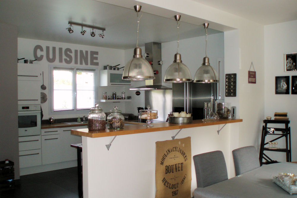 exemple cuisine ouverte bar