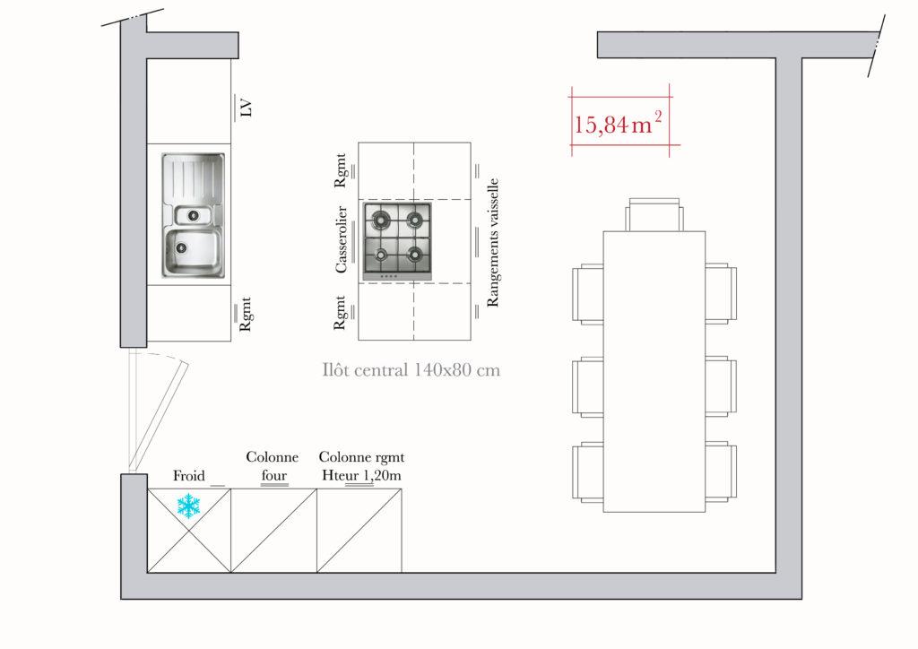 visualiser cuisine 15m2