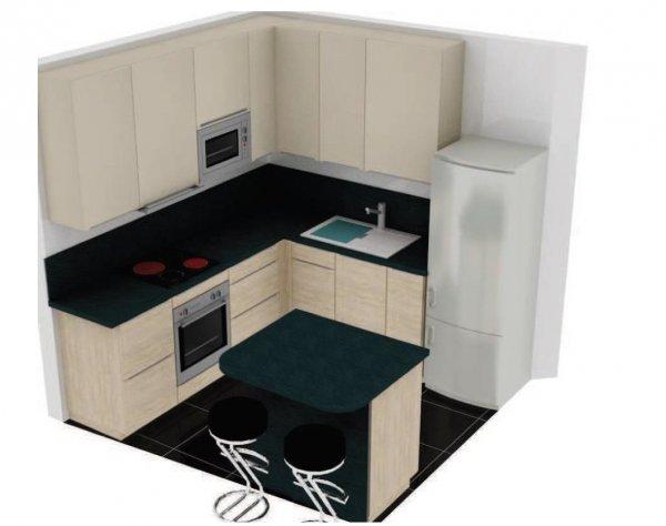 modèle cuisine 6m2 avec ilot