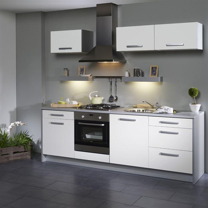 exemple cuisine blanche et grise