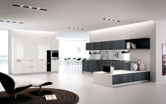 visualiser cuisine blanche et grise