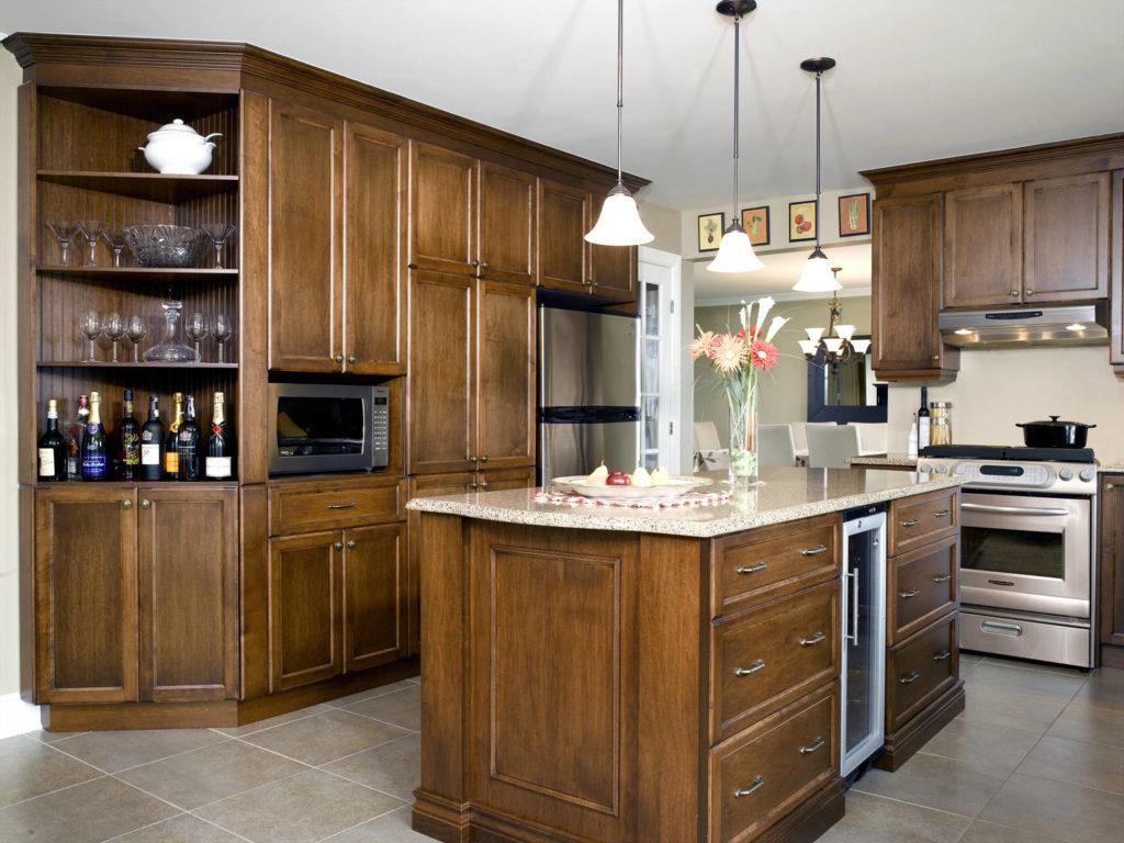 modèle cuisine bois