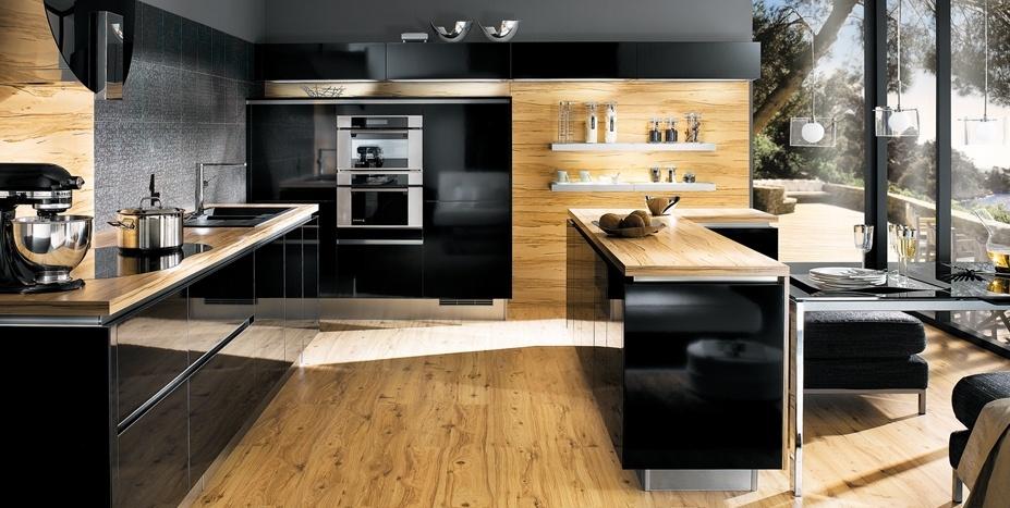idée cuisine bois et noir