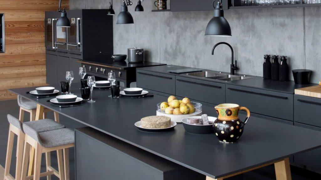 photographie cuisine bois et noir