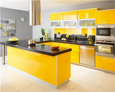 photo cuisine jaune