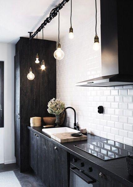 photo cuisine noir et blanc
