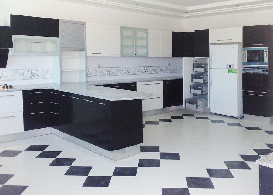 visualiser cuisine noir et blanc