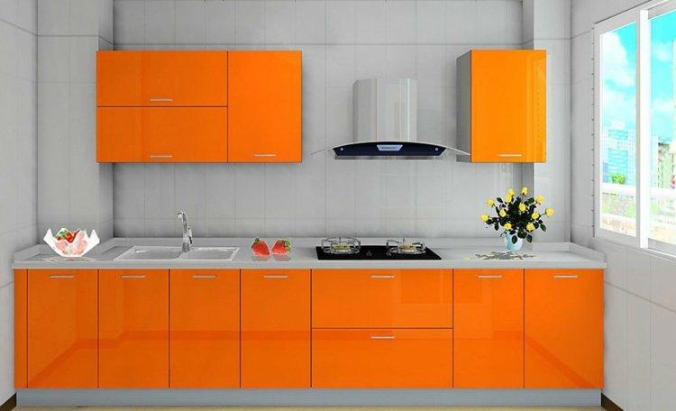 modèle cuisine orange