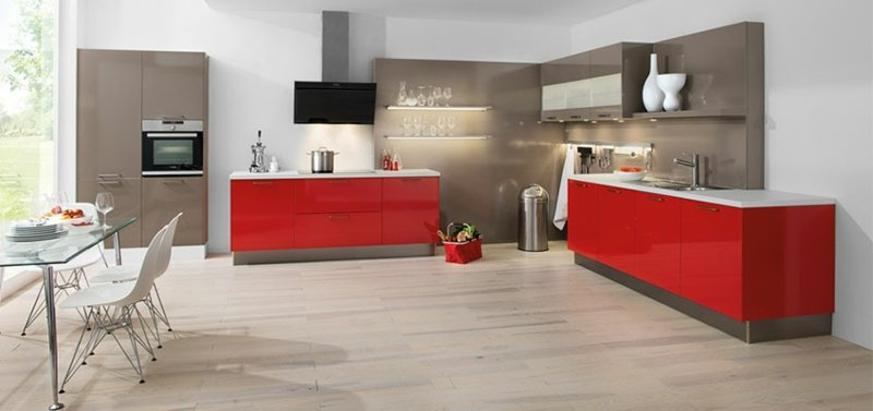 exemple cuisine rouge