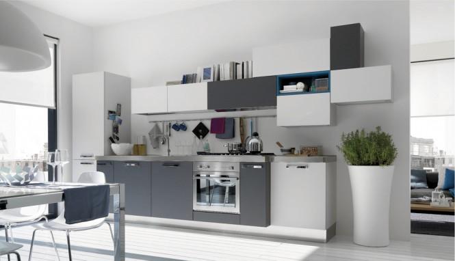 image cuisine gris et blanc