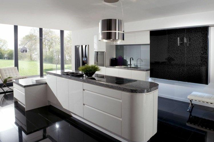 exemple cuisine noire et blanche